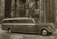 Einberufung mit seinem Omnibus zur Deutschen Wehrmacht.